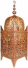 Orientalische rostige Laterne aus Metall Frane 165cm groß | Marokkanische Rost Gartenlaterne für draußen, oder Innen als Bodenlaterne | Marokkanisches Gartenwindlicht hängend oder zum hinstellen
