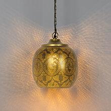 Orientalische runde Pendelleuchte Gold - Zayn 4