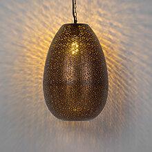 Orientalische runde Pendelleuchte Kupfer - Maruf 1