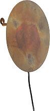 Orientalische runde Wandleuchte rostbraun - Pianeta