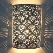 Orientalische Silber Wandlampe Marokkanische
