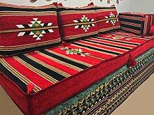 Orientalische Sitzecke/Sitzkissen/Sitzgruppe/Bodenkissen/Sofa/Garnitur 5 teilig Komplett gefüllt-Orient-Designs das Original aus dem Golf