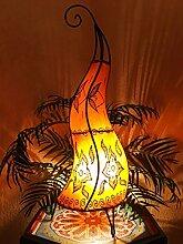 Orientalische Stehlampe Almina Orange 71cm