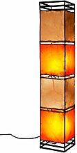 Orientalische Stehlampe Kaya Orange Beige 95cm