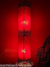 Orientalische Stehlampe Koutoubia Rot 120cm