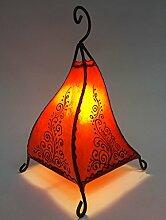 Orientalische Tischlampe Rahaf 35cm Lederlampe
