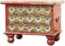 Orientalische Truhe Kiste aus Holz Anik Rot |