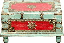 Orientalische Truhe Kiste aus Holz Arjuna Rot -
