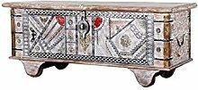 Orientalische Truhe Kiste aus Holz Chadijah 116cm