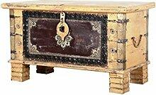 Orientalische Truhe Kiste aus Holz Chayma 80cm