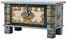 Orientalische Truhe Kiste aus Holz Ezgi 80cm groß