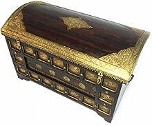 Orientalische Truhe Kiste aus Holz yaprak XXL -
