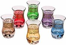 Orientalische verzierte Teegläser Set 6 Gläser