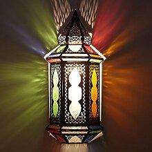 Orientalische Wandlampe marokkanische bunte