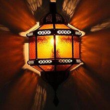 Orientalische Wandlampe Trombi Gelb H 38 x B 20 cm