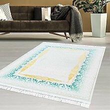 Orientalischer Flachflor Teppich Modern Polyester