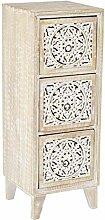 Orientalischer Holz Nachttisch Enfal für