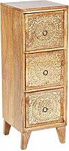 Orientalischer Holz Nachttisch Enkidu für
