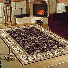 Orientalischer Teppich Troja - Klassischer Teppich mit orientalisch-europäischen Designs (240 x 340 cm, Rot)