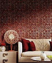 Orientalischer Vorhang in  Bordeauxrot mit