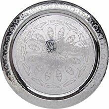 Orientalisches rundes Tablett aus Messing