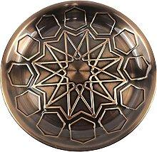 Orientalisches Rundes Tablett aus Metall Antik