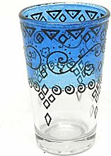 Orientalisches Teeglas blau   Marokkanische Tee