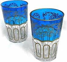 Orientalisches Teeglas   Entrelacer   Blau  