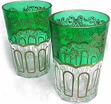 Orientalisches Teeglas   Entrelacer   Grün  