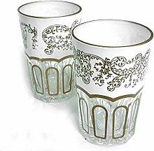 Orientalisches Teeglas   Entrelacer   Weiss  