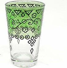 Orientalisches Teeglas grün   Marokkanische Tee