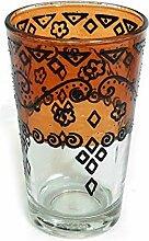 Orientalisches Teeglas   Orange   Ø:6cm  
