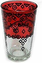 Orientalisches Teeglas   Rot   Ø:6cm  
