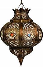 OrientalisOrientalische Lampe Pendelleuchte Rostfarben Esmahan E27 Lampenfassung   Marokkanische Design Hängeleuchte Leuchte aus Marokko   Orient Lampen für Wohnzimmer, Küche oder Hängend über den Esstisch