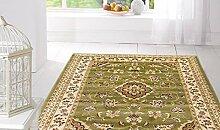 Orientteppich Kirman Klassisch Teppich SALON 757-verde Cm.160x230 grün
