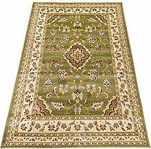 Orientteppich Kirman Klassisch Teppich SALON 757-verde Cm.70x300 grün
