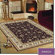 Orientteppich Troja - Klassischer Teppich mit orientalisch-europäischen Designs (80 x 150 cm, Schwarz)