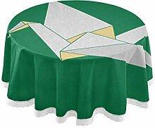 Origami Cranes Papier-Tischdecke, rund, Leinen,