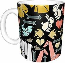 Origami Date Night Keramikbecher, Kaffeetasse