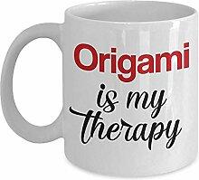 Origami ist meine Therapie-Becher-einzigartige