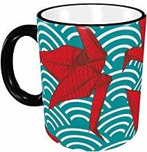 Origami Red Paper Cranes Set Skizze Keramik