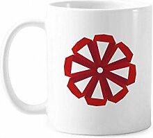 Origami-Tasse, abstrakte Weihnachtsblume, Keramik,