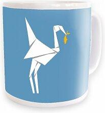 Origami Vogel Tasse (Standardgröße Tasse)