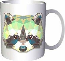 Origami Waschbär-Tierliebhaber Neuheit 33 cl Tasse o63