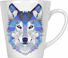 Origami Wolf Wasserfarben 34 cl Latte Tasse o56L