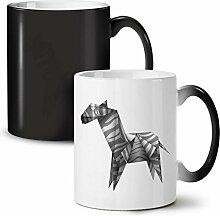Origami Zebra Cool Tier Schwarz Farbwechsel Tee Kaffee Keramisch Becher 11 oz | Wellcoda