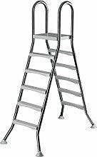 Original ASTRAL Edelstahl Leiter für 1,35 m Pool - 2x 5 Stufen - hochwertiges V2A
