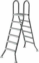 Original ASTRAL Edelstahl Leiter für 1,50 m Pool - 2x 5 Stufen - hochwertiges V2A