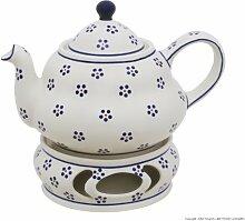 Original Bunzlauer Keramik Teekanne 1,5 Liter mit