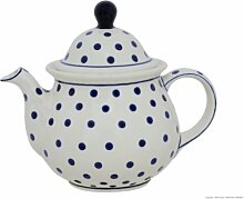 Original Bunzlauer Keramik Teekanne 1,7L im Dekor
